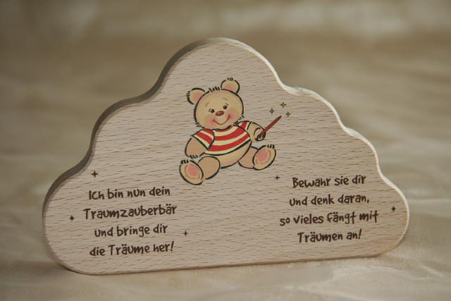"""Schutzengel """"Traumzauberbär"""" natur mit Wunschnamen"""