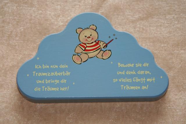 Lampe Schutzengel Bär Geburt Spieluhr Holzbuchstaben
