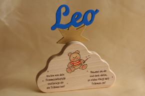 Schutzengel Bär Wolke Spieluhr Holzbuchstaben