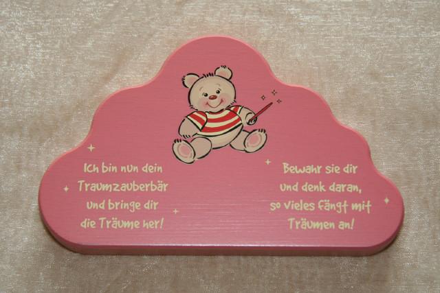 """Schutzengel """"Traumzauberbär"""" Wolke rosa"""